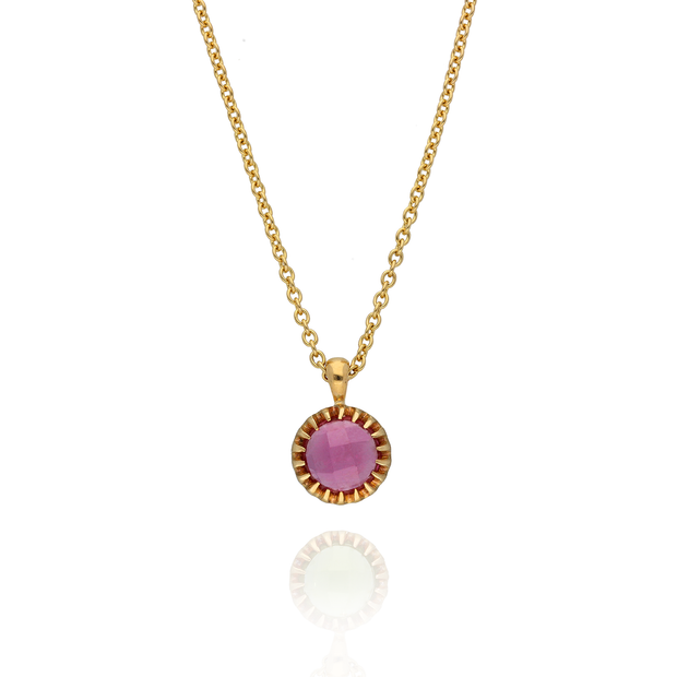 Pink Tourmaline 'Garden' Gold Necklace