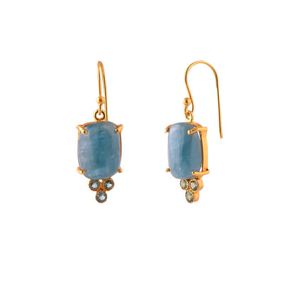 Apatite and Blue Topaz Drop Earrings