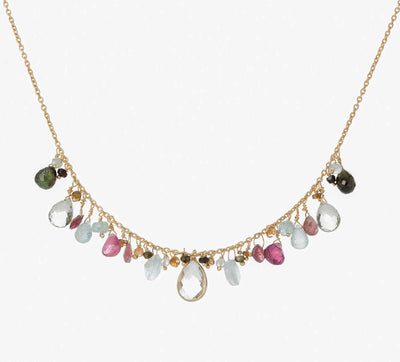 EC One Pomegranate London Iris Tourmaline Beaded Necklace
