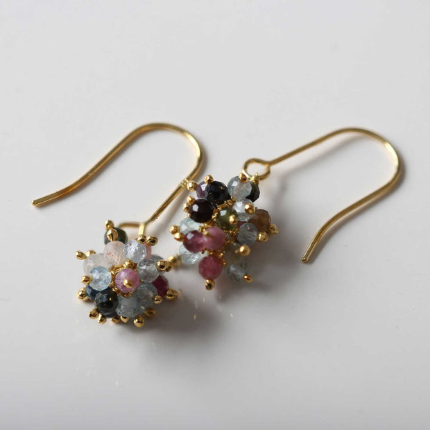 Pomegranate Sara Cluster Hook Earrings