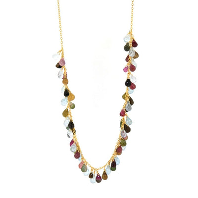 EC One Pomegranate London Valentina Mixed Tourmaline Beaded Necklace