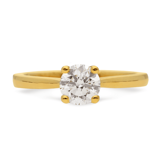"0.75ct Diamond ""Nancy"" Solitaire in Yellow Gold Ring"