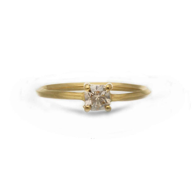 ELLIE AIR x EC ONE - Selene Ring with Canadian Diamond 18ct Yellow Gold