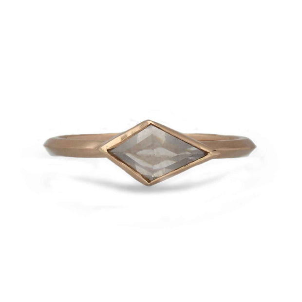 ELLIE AIR x EC ONE - Meteorite Ring With Grey Kite Diamond 18ct Rose Gold