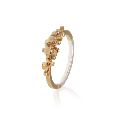 Gold Plated Rubble Ring