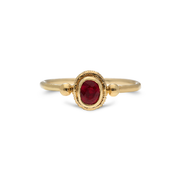 Oval Ruby Multi-stone Ring in Yellow Gold