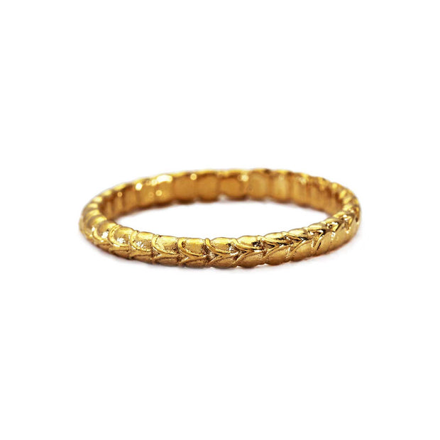 "EC One Rosie Kent Gold Plated ""Anthropod"" Textured Band"