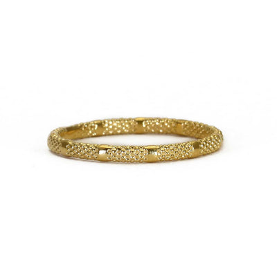 EC One Rosie Kent  'Fracture' Textured Ring Gold Plated
