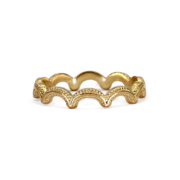 EC One Rosie Kent Magma Wiggle Ring Gold Plated