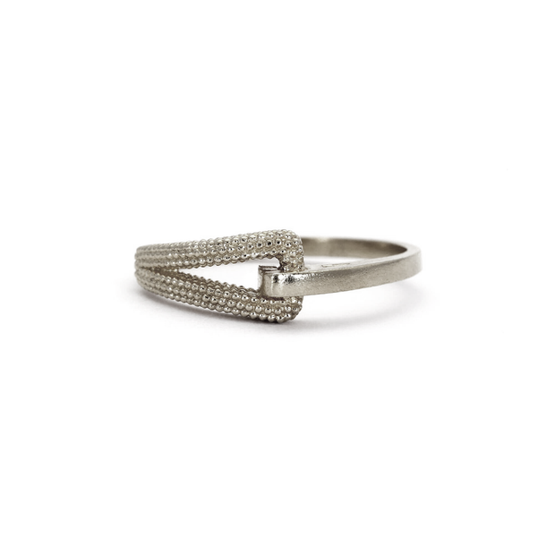 "EC One Rosie Kent Silver ""Zinnia"" Textured Ring"