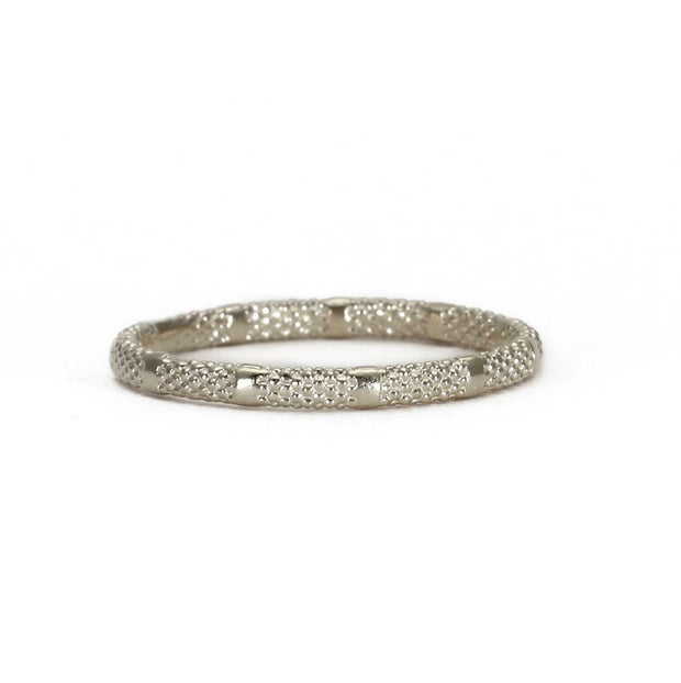 EC One Rosie Kent 'Fracture' Textured Ring Silver