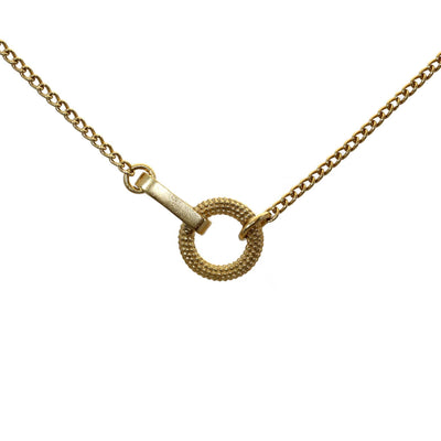 Tyro Circle and Bar In-line Necklace Gold Plated