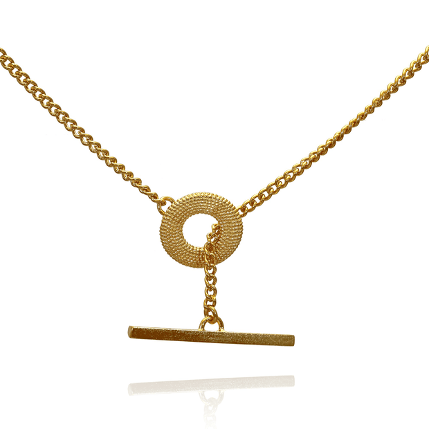 Weol T-Bar Necklace Gold Plated