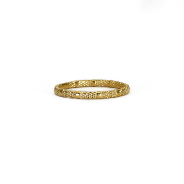'Fracture' Textured Ring Gold Plated
