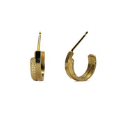 Source Small Flat Gold Plated Hoops