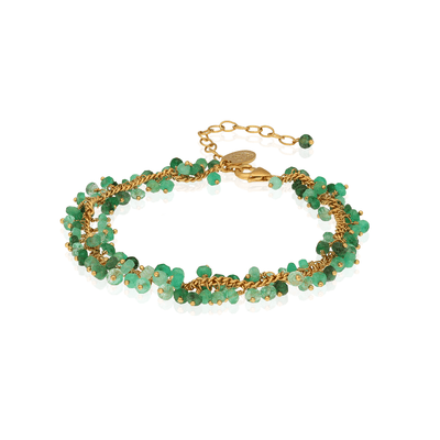 EC One Kate Wood Emerald Row Bracelet