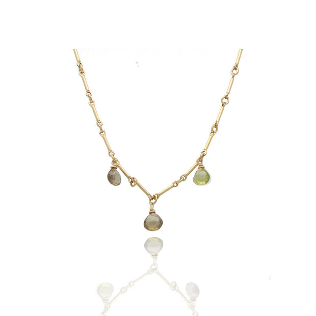 EC One Ruebelle Necklace with Three Tourmaline Drops