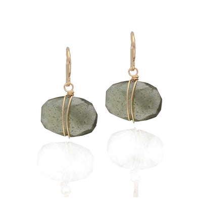 EC One Ruebelle Wrapped Aquamarine drop earrings