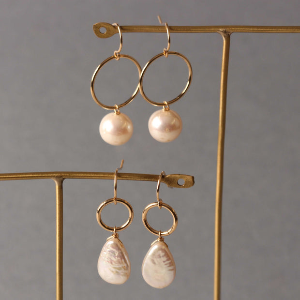Ruebelle Pearl and mother of peal earrings