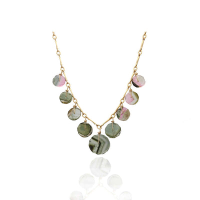 EC One Ruebelle Watermelon Tourmaline Necklace