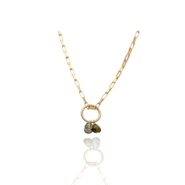 EC One Ruebelle Necklace with Triple Tourmaline Charm