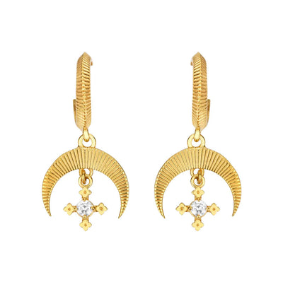 EC One Zoe & Morgan Sacha Gold Plated Drop Earrings