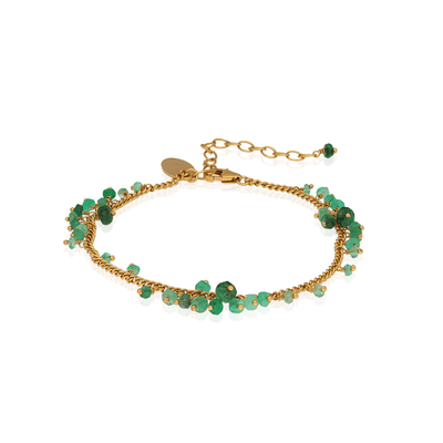 EC One Kate Wood Emerald Scattered Bracelet