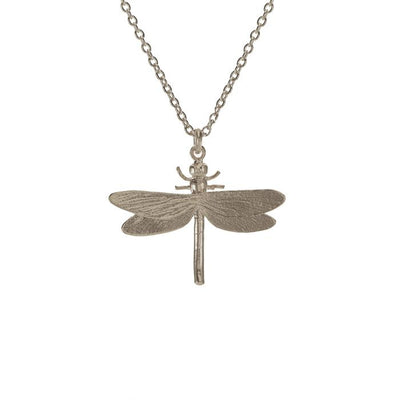Alex Monroe Silver Dragonfly Necklace