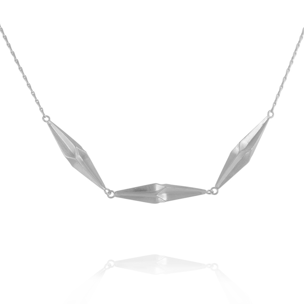 EC One Alice Barnes Shard Triplet Necklace Silver