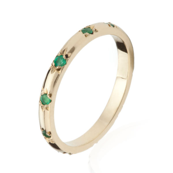 EC One Ellie Air Stella Gold Emerald Eternity Ring