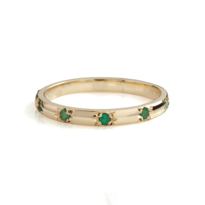 Stella Gold Emerald Eternity Ring