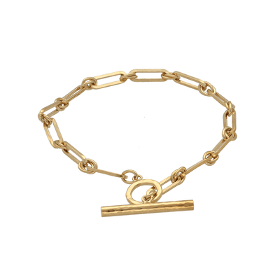 EC One Gold Plated T-bar chain Bracelet
