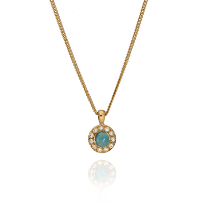 Blue Tourmaline & Diamond 'Garden' Necklace