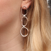 EC One Ella Stern recycled silver Triple Shape Link Earrings