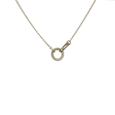 Circle and Bar In-line Necklace Silver