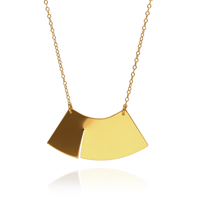 "Megan Collins EC One ""Wave"" Gold Plated Necklace"