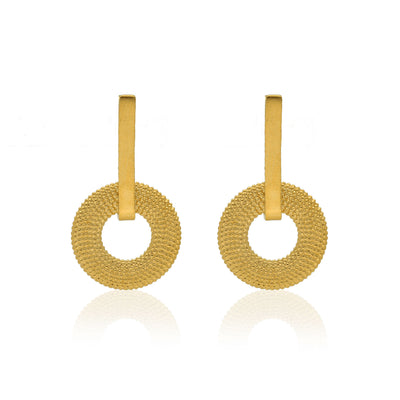 EC One Rosie Kent Weol Gold Plated Drop Earrings
