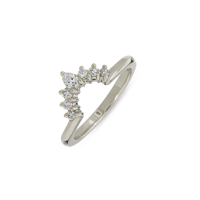 EC一recycled white gold tiara fitted diamond wedding ring