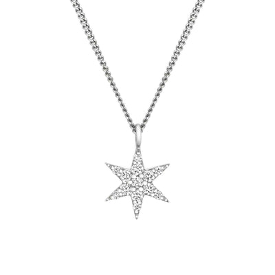 EC One Zoe & Morgan Mini Anahata Star White Gold Diamond Necklace