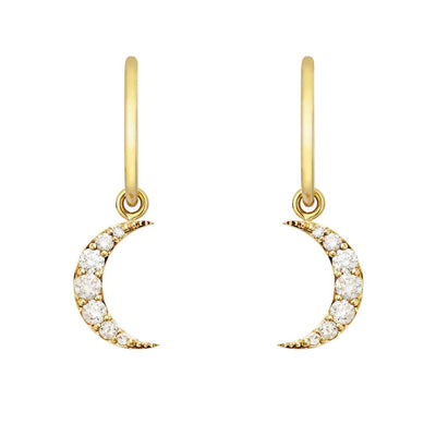 EC One Zoe & Morgan Luna Diamond Gold earrings