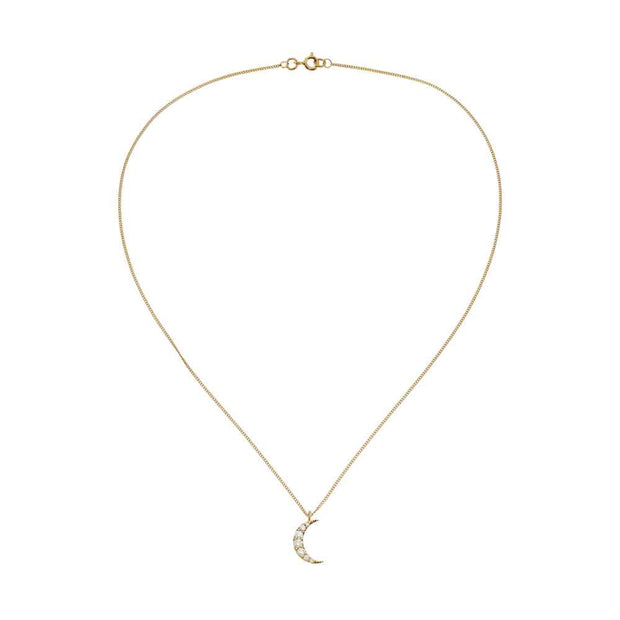 EC One Zoe & Morgan Zap Diamond Gold Necklace