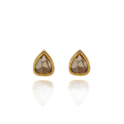 Shana Gulati Barrow Sliced Raw uncut diamond studs