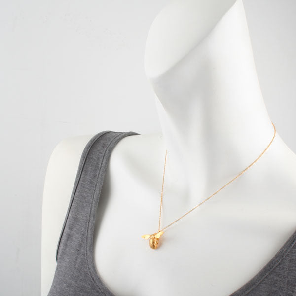 Large Bumblebee Gold Necklace