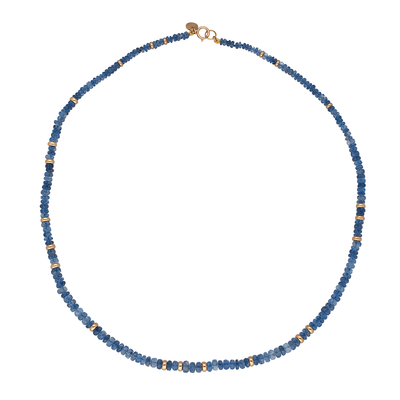 Aquamarine and Gold Bead Necklace