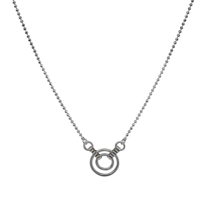 Catena Silver Loop Necklace