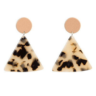 Triangular Acetate 'Chip' Drop Earrings