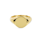 EC One Round Recycled Gold Signet Ring
