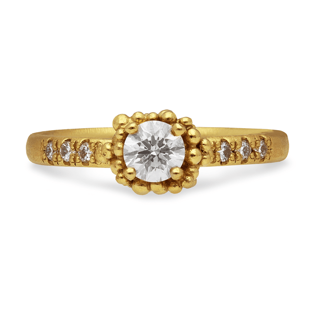 Diamond Pave Ring Yellow Gold