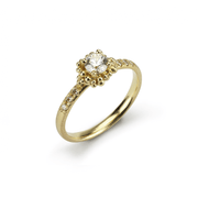 EC One Hannah Bedford recycled gold Diamond Pave Ring