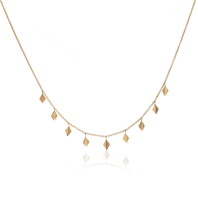 Crown Yellow Gold Charm Necklace